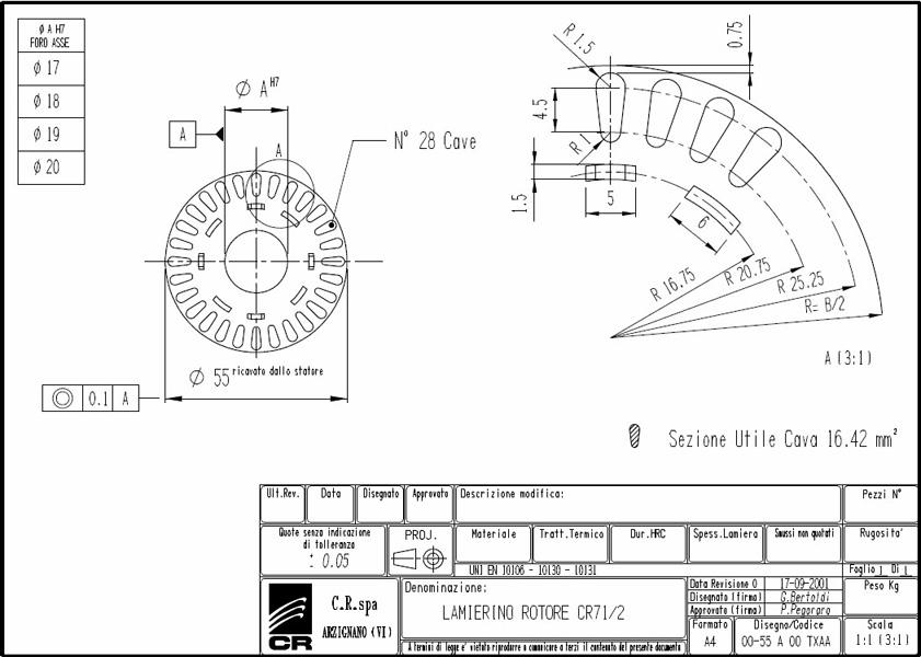 Lamierino Rotore CR 110x55 TXAA C.R. Spa