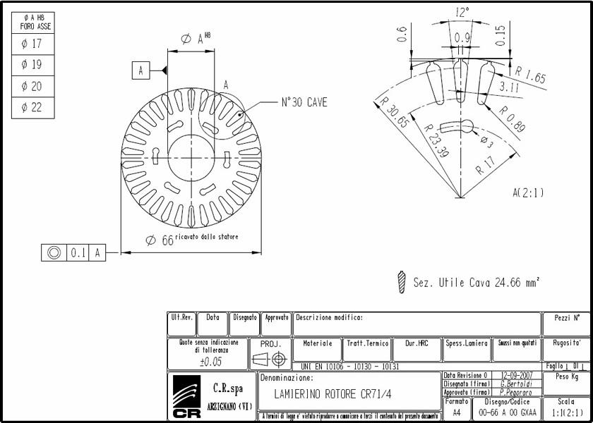 Lamierino Rotore CR 110x66 GXAA C.R. Spa